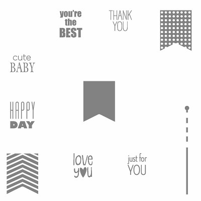 134060 Banner Banter Clear-Mount Stamp Set (Englisch)